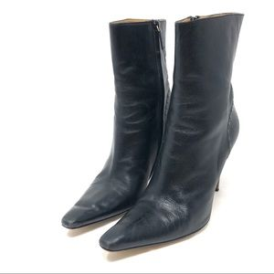GUCCI black leather booties, made Italy